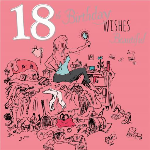 Young At Heart Card - 18 Female - Birthday Beautiful