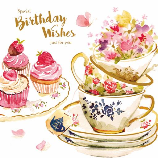 Birthday Treats Card Collection - Teacups