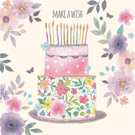 Vintage Garden Card - Make A Wish