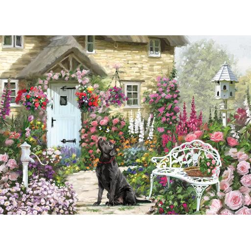 Rectangular Jigsaw - Cottage Garden