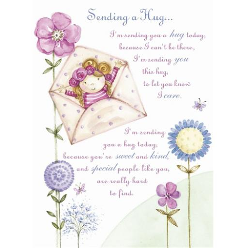 Sentiments Card - Sending A Hug