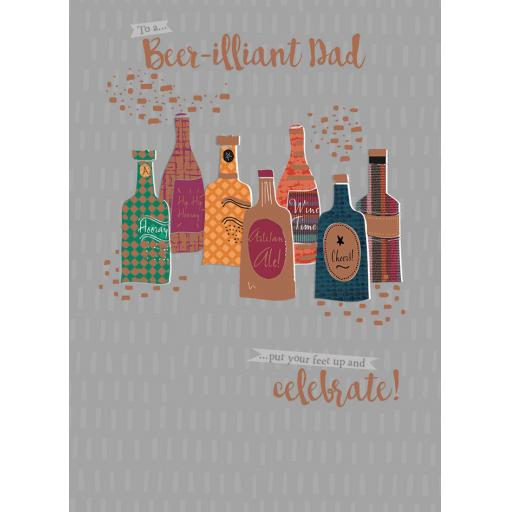Family Circle Card - Beer'illiant Dad (Dad)