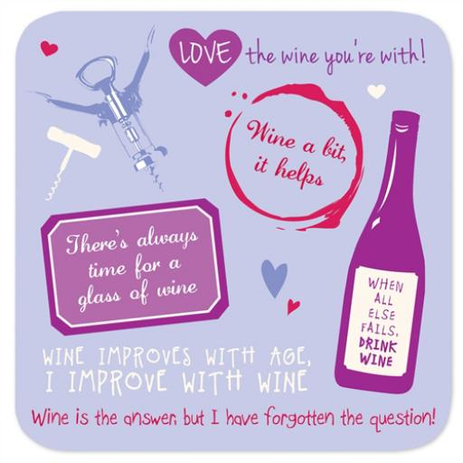 Coasters - Perfect Gifts For Him & Her Wine