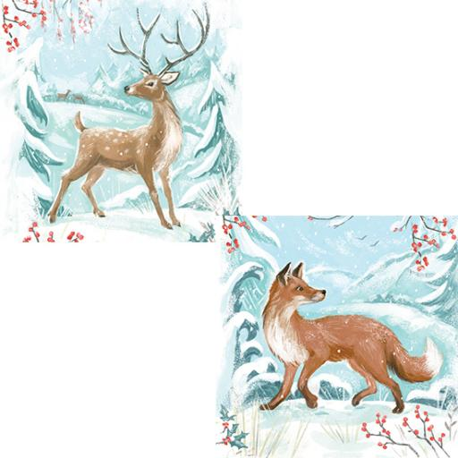 RSPB Luxury Christmas Card Pack - Winter Wonderland