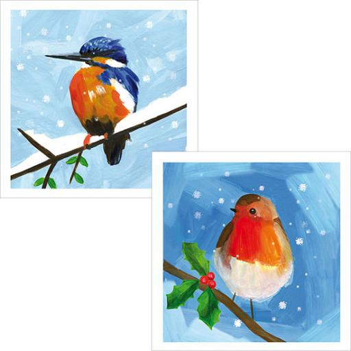 RSPB Luxury Christmas Card Pack - Snowy Scenes