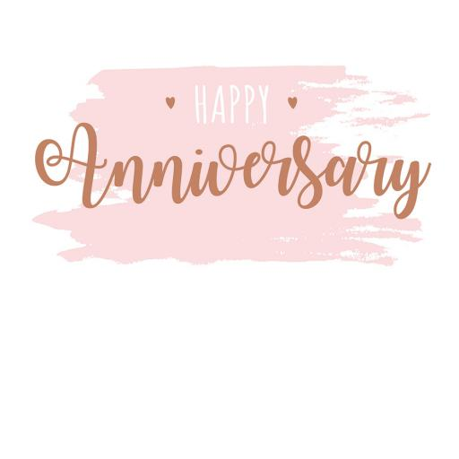 Anniversary Card - Colour Wash 7 Text (Open)