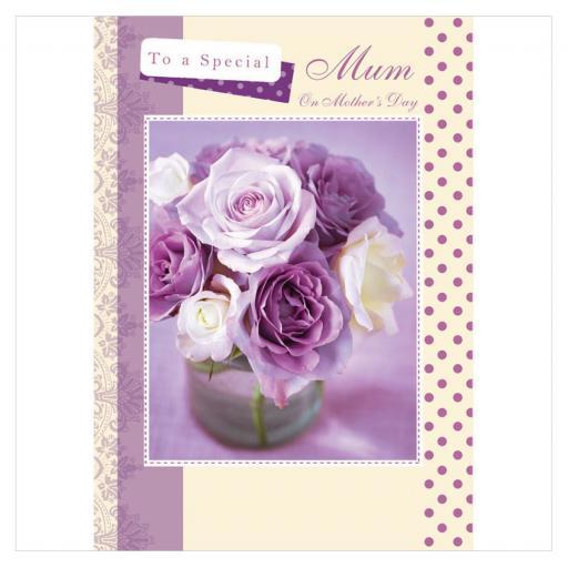 Mother's Day Card - Rose Vase