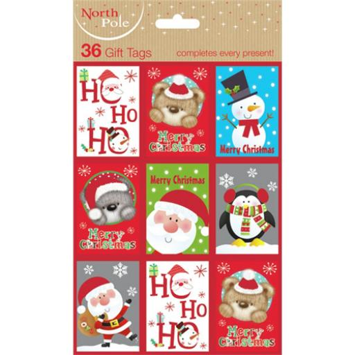 Christmas Gift Tags - Novelty/Cute (36)