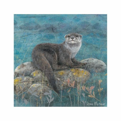 Enchanted Wildlife Card - Otter