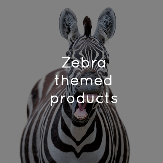 Zebra themed products