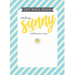 Get Well Soon Card - Sunny Get Well Wishes