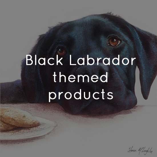 Black Labrador themed products