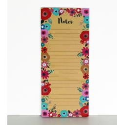 Bohemia Stationery - Magnetic Memo Pad - Flowers