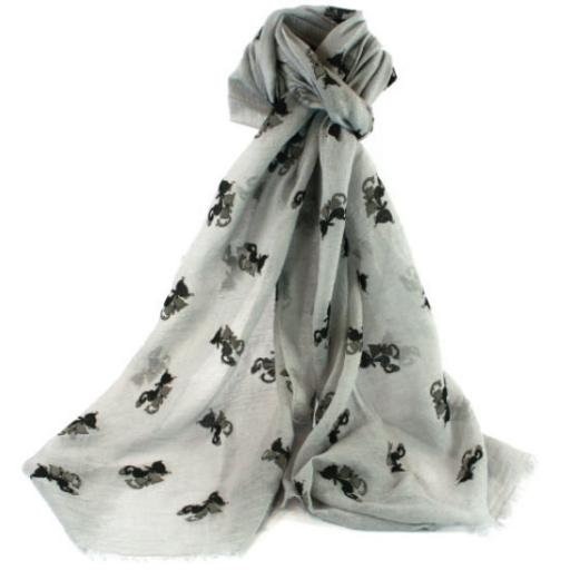Cat Friends Scarf - Grey