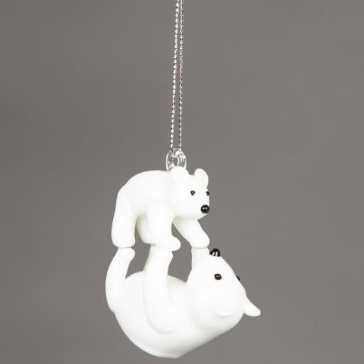 Polar Bear and Cub Decoration