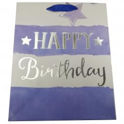 Gift Bag (Large) - Watercolour Birthday (Blue)