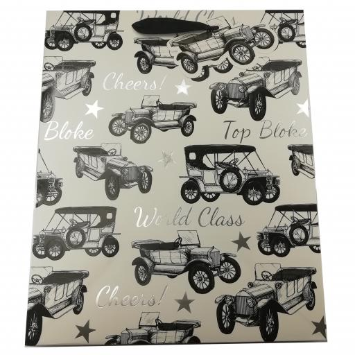 Gift Bag (Large) - Vintage Car