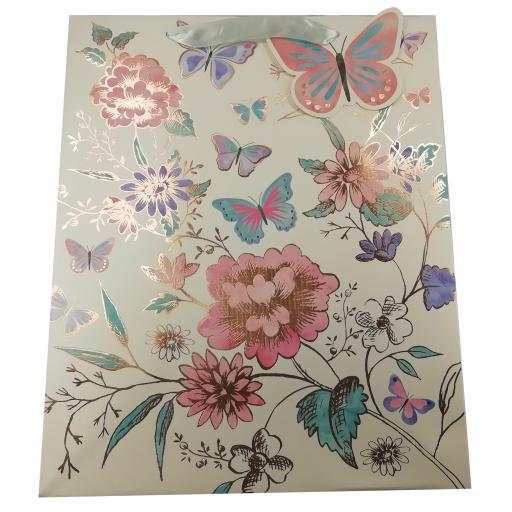 Gift Bag (Large) - Floral Butterfly