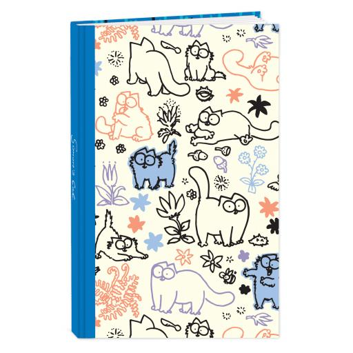 Simon's Cat Stationery - Hardcover Notebook (A6) - Cat Pattern