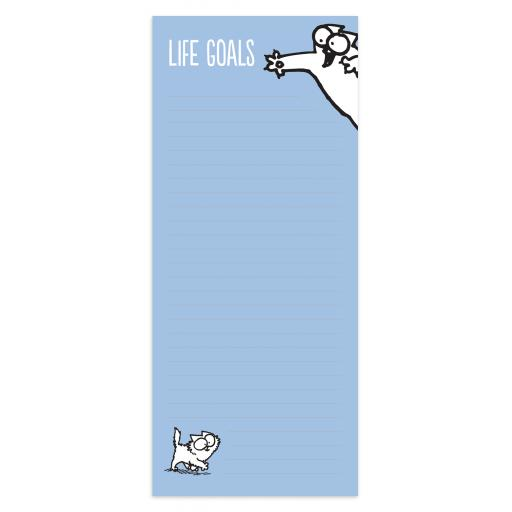 Simon's Cat Stationery - Magnetic Memo Pad - Life Goals