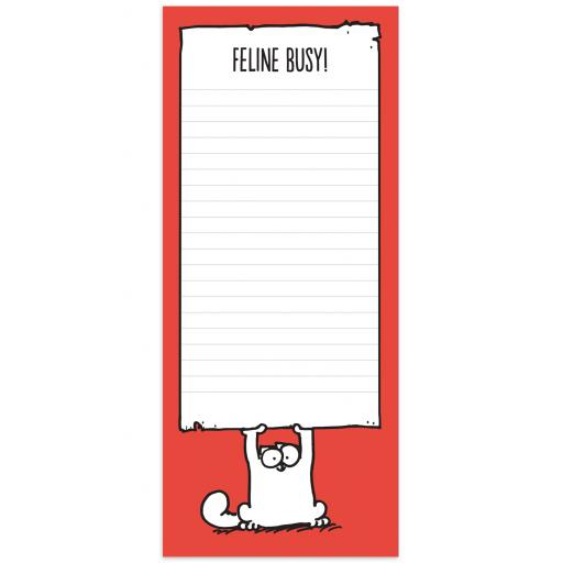 Simon's Cat Stationery - Magnetic Memo Pad - Feline Busy