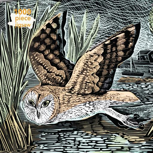 Angela Harding Marsh Owl 1000 Piece Jigsaw