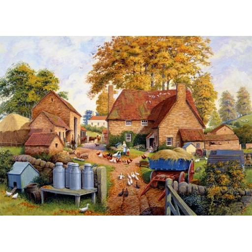 Autumn On The Farm 1000 Piece Jigsaw