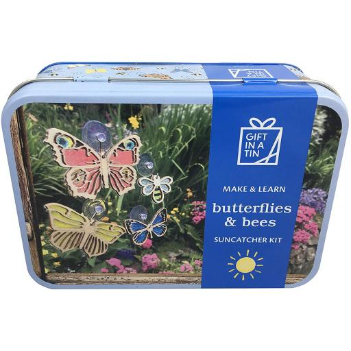 Butterflies & Bees Suncatcher Kit - Gift in a Tin