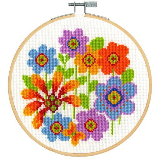 Bright Flowers Cross Stitch Kit
