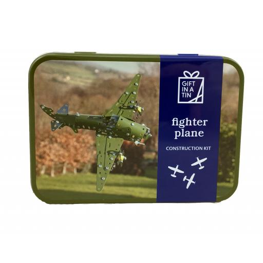 Fighter Plane Construction Kit - Gift in a Tin
