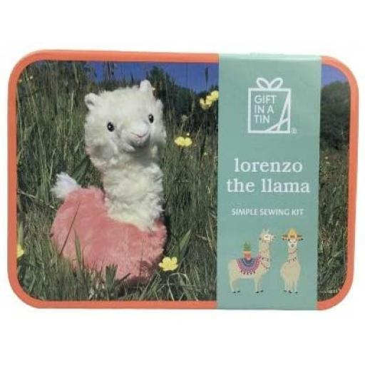 Lorenzo the Llama Sewing Kit - Gift in a Tin