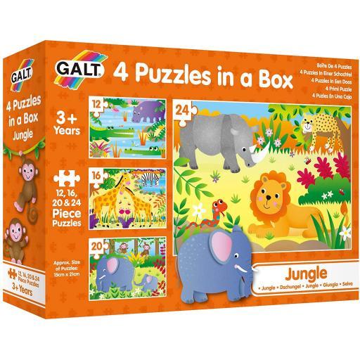4 Puzzles In A Box - Jungle