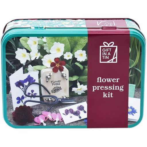 Flower Pressing Kit - Gift in a Tin
