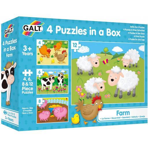 4 Puzzles In A Box - Farm