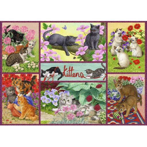 Playful Kittens 500 Piece Jigsaw