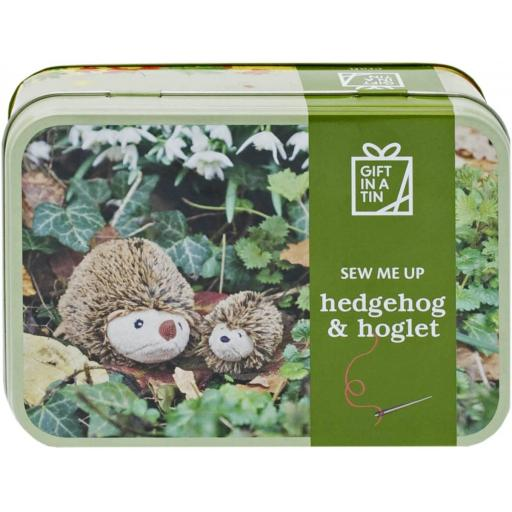 Sew a Hedgehog & Hoglet - Gift in a Tin