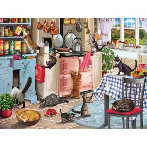 Rectangular Jigsaw - Cats In The Kitchen