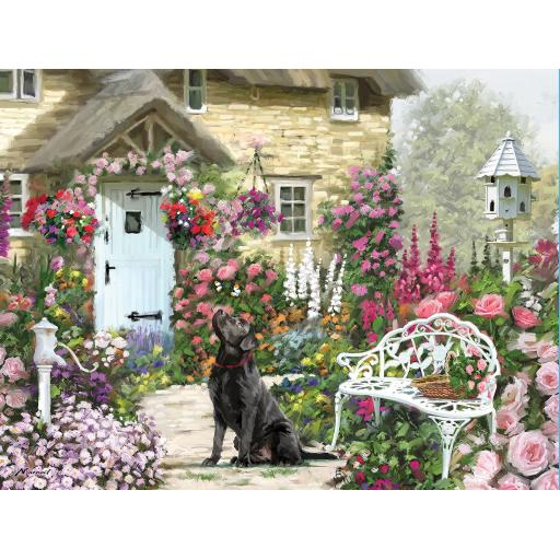 Rectangular Jigsaw - Cottage Garden