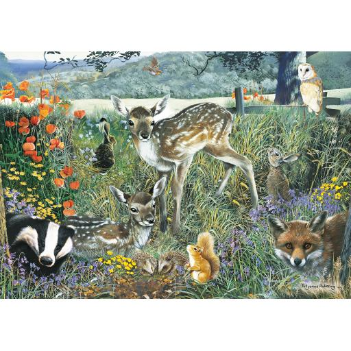 Rectangular Jigsaw - Woodland Friends