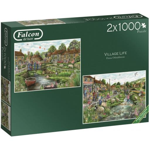 Village Life 2 x 1000 Piece Jigsaw Set