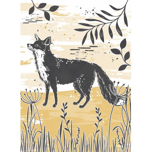 RSPB Card - Wild Meadow Card - Inquisitive Fox