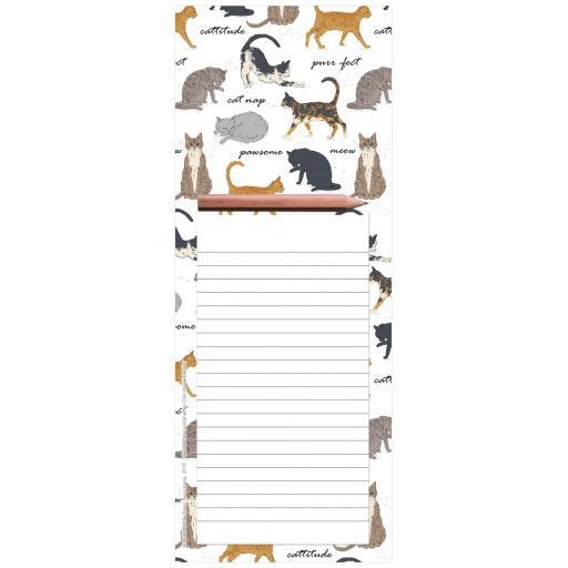 Magnetic Memo Pad - Cat Montage