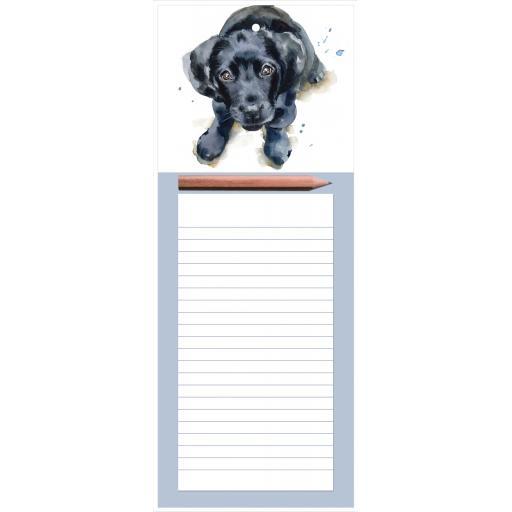 Magnetic Memo Pad - Black Labrador