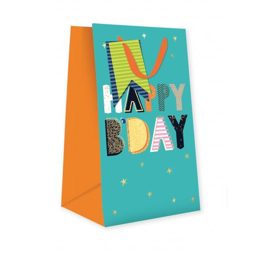 Gift Bag (Small) - Happy Birthday On Stars