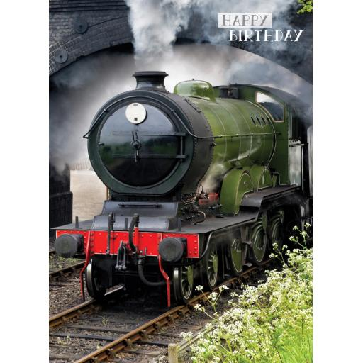 First Class Male Card - Steam Train