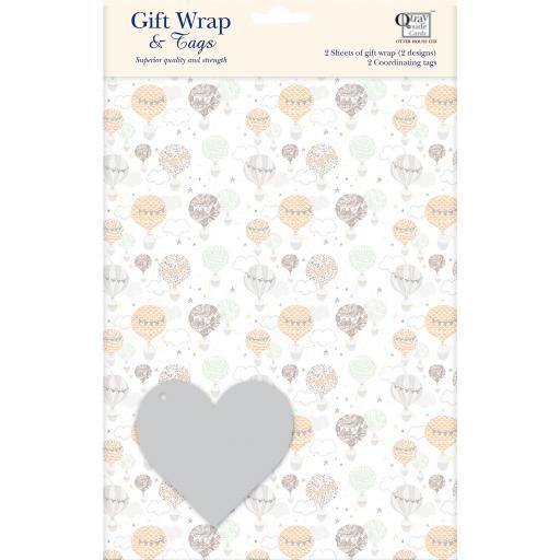 Gift Wrap & Tags - Hot Air Balloons
