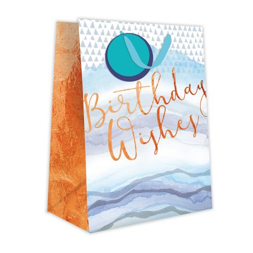 Gift Bag (Medium) - Birthday Wishes Blue Wave