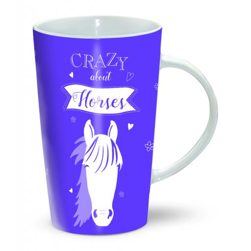 Latte Mug - Crazy About Horses