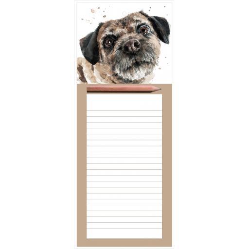 Magnetic Memo Pad - Border Terrier