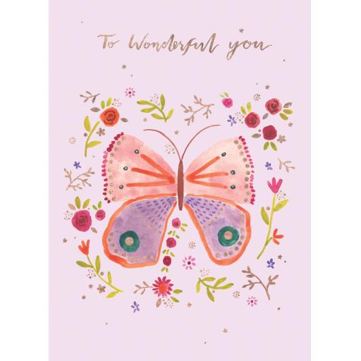 Marie Curie Happy Days Card Collection - Wonderful Butterfly
